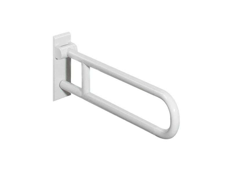 Mobiclinic Maximale Belastbarkeit 90 kg Herunterklappbare Stangen Mit Toilettenpapierhalter Sicherheitsb/ügel St/ützklappgriffe f/ür wc Arco