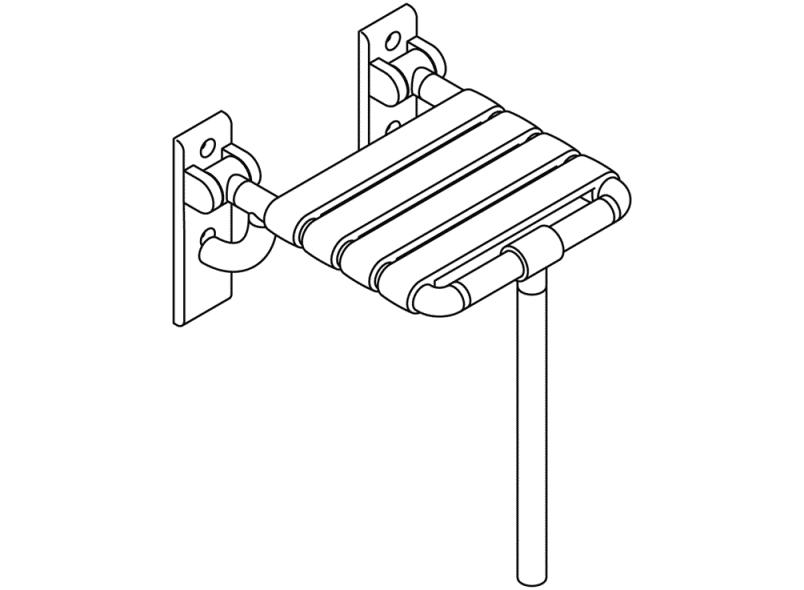 4 D/übel und Schrauben Hewi Heinrich Wilke BM20.4 Befestigungsmaterial 801//805 Klappsitz f/ür W/ände aus Beton