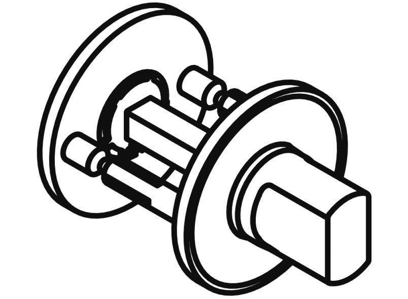 Zylinderrosette flach 306.23 reinweiß HEWI